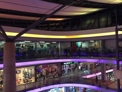 LED осветление мол Галерия Бургас