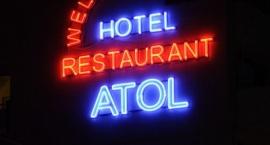 "Светеща реклама от неон  ""Hotel ATOL"" Слънчев бряг"