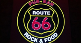"Обемна светеща (LED) реклама ""Route 66"" Слънчев бряг"