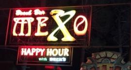 """Светеща реклама от неон бар """"Mexo"""" Слънчев бряг"""