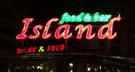 "Обемни букви и неон ""Food & Bar Island"" Слънчев бряг"
